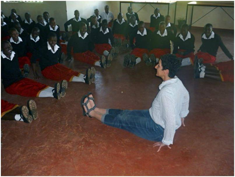 Libby Yager class in Kenya